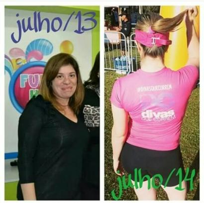 Dani antes (julho 2013) e depois (julho 2014)